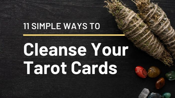 Cleanse Your Tarot Cards