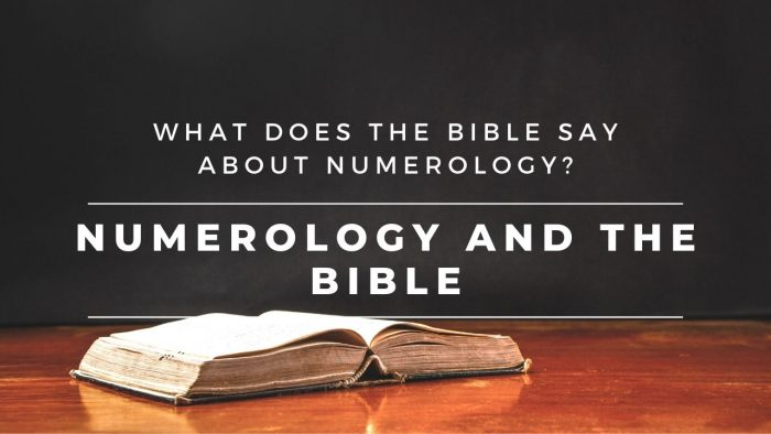 Numerology and the Bible
